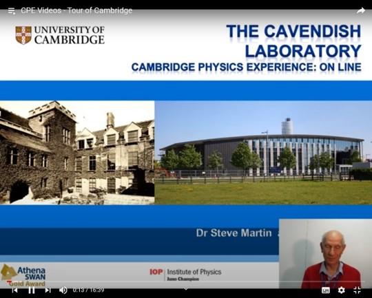 Cambridge virtual Physics visit i