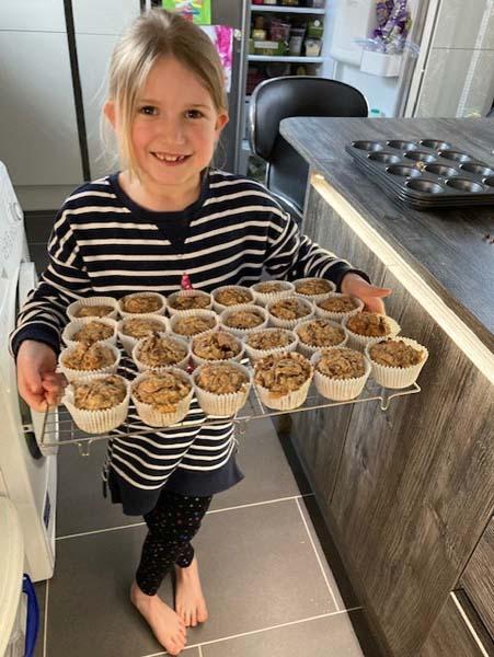 Isla Emily baking 4