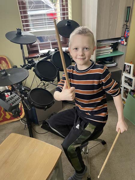 William B drumming